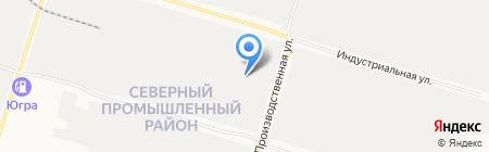 Нефтэк-Кор на карте Сургута
