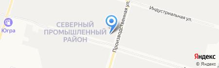 Навигатор на карте Сургута