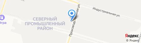 Сибмехстрой на карте Сургута