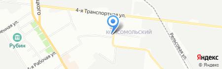 Продуктовый магазин на ул. Берко Цемента на карте Омска