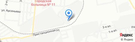 Омский пиломатериал на карте Омска