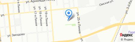 Средняя общеобразовательная школа №48 на карте Омска