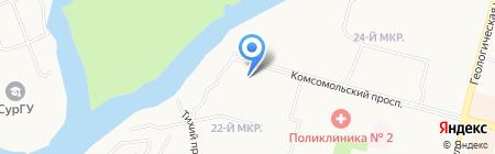 Грузоперевозки сыпучих грузов на карте Сургута