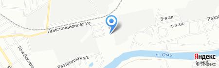 Раздолье на карте Омска