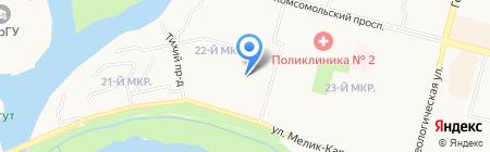 Золотой курай на карте Сургута