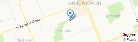 Велес на карте Сургута