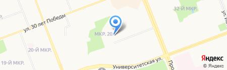 ЮТэйр на карте Сургута