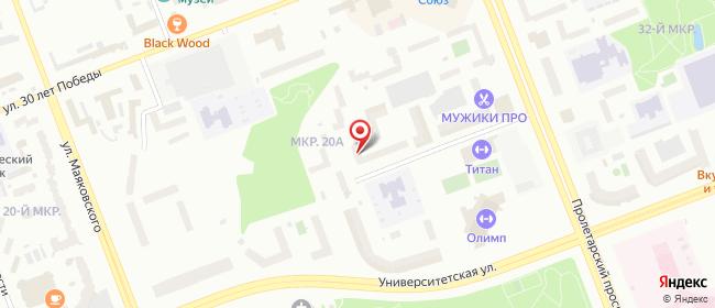 Карта расположения пункта доставки Сургут Университетская в городе Сургут