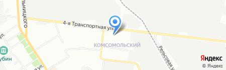 Восточный на карте Омска