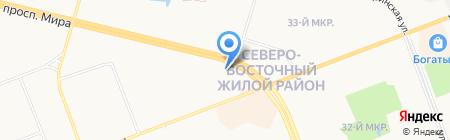ЛУКОЙЛ-Интер-Кард на карте Сургута