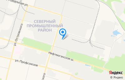 Местоположение на карте пункта техосмотра по адресу Ханты-Мансийский Автономный округ - Югра АО, г Сургут, ул Производственная, д 6 стр 1