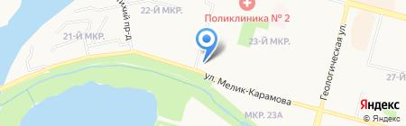Городское на карте Сургута