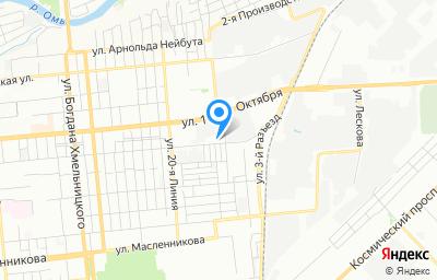 Местоположение на карте пункта техосмотра по адресу г Омск, ул Лермонтова, д 179А/2
