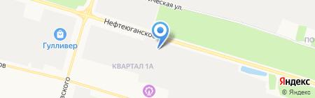 Феликс-Север на карте Сургута