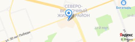 Шпилька на карте Сургута