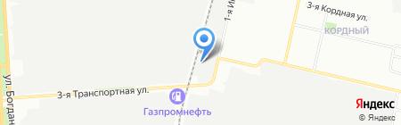 Транспорт 55 на карте Омска