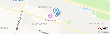 Навигационные технологии на карте Сургута