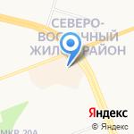 Жара на карте Сургута