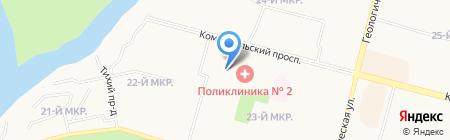 Профессиональный на карте Сургута