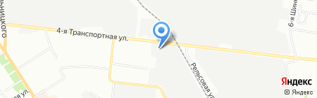 Золотая подкова на карте Омска