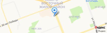 Аделина на карте Сургута