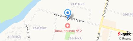 Рута на карте Сургута
