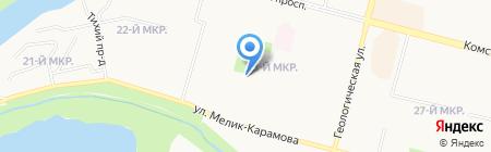 Наджа на карте Сургута