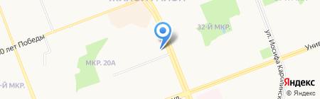 Беркут-2 на карте Сургута
