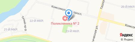 Кафетерий на карте Сургута