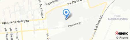 Регион на карте Омска