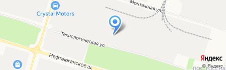 Кусочек сыра на карте Сургута