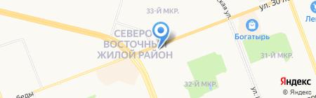 Почтовое отделение №6 на карте Сургута