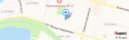 Участковый пункт полиции №10 на карте Сургута