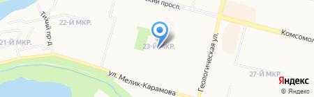 Дельфин на карте Сургута