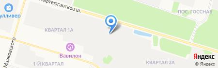 АБИС на карте Сургута
