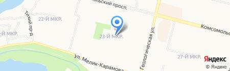 Средняя общеобразовательная школа №19 на карте Сургута