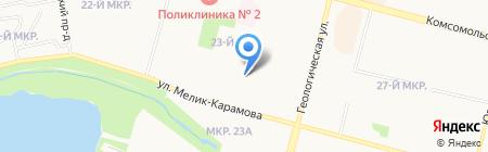 Юный геолог на карте Сургута