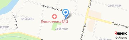 Городской врачебно-физкультурный диспансер на карте Сургута