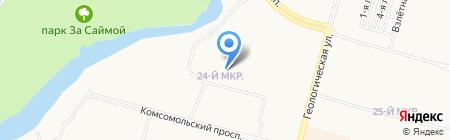 Детский сад №33 на карте Сургута