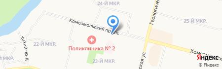 Радуга на карте Сургута