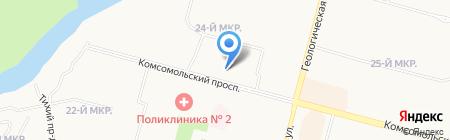 Бонапарт на карте Сургута