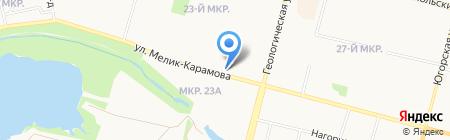 Гослото на карте Сургута