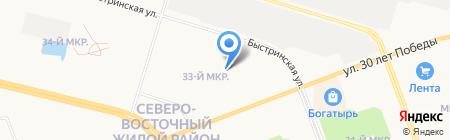 Магазин цветов на ул. 30 лет Победы на карте Сургута