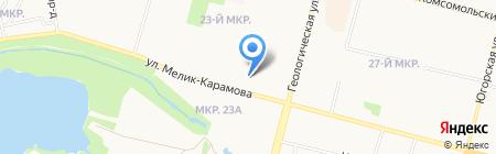 Причал на карте Сургута