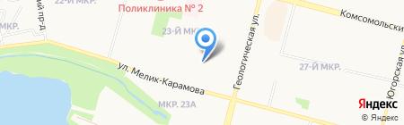 Чародейка на карте Сургута