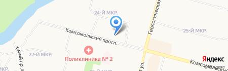 Воображуля на карте Сургута