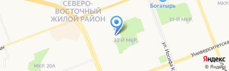 Инвесттелеком на карте Сургута