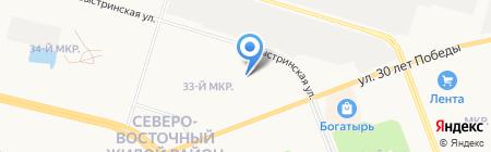 PALESTRA на карте Сургута
