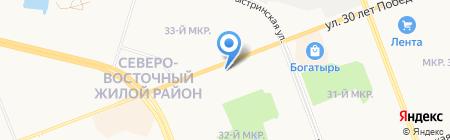Банкомат Райффайзенбанк на карте Сургута