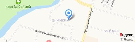 Гимназия им. Ф.К. Салманова на карте Сургута